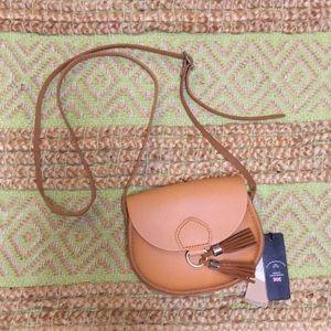 The Cambridge Satchel Co Mini Tassel Bag, Sand